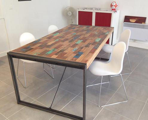 ambiances tables de repas architeck meubles ethnicraft teck et chene mobilier mobitec. Black Bedroom Furniture Sets. Home Design Ideas
